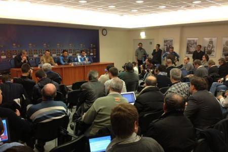 Walter Mazzarri e Giandomenico Mesto hanno parlato in conferenza stampa alla vigilia della sfida di Europa League con il Dnipro